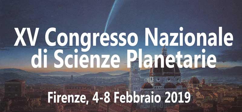 XV Congresso Nazionale di Scienze Planetarie