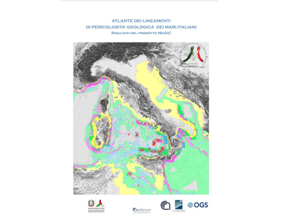 """Pubblicato l""""Atlante degli elementi di pericolosità dei mari italiani"""", risultato del Progetto Magic (Marine Geohazards along the Italian Coasts, 2008-2013), finanziato dal Dipartimento di Protezione Civile e coordinato da CNR IGAG."""