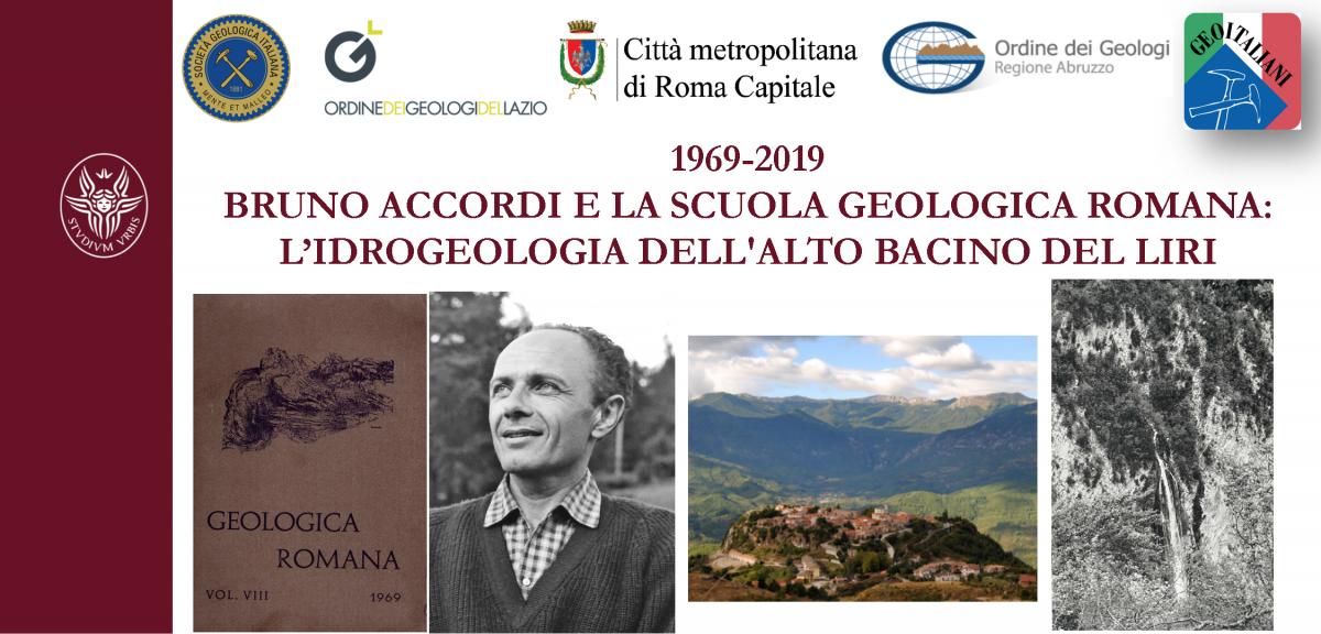 1969-2019 - Bruno Accordi e la Scuola Geologica Romana: l'idrogeologia dell'Alto Bacino del Liri