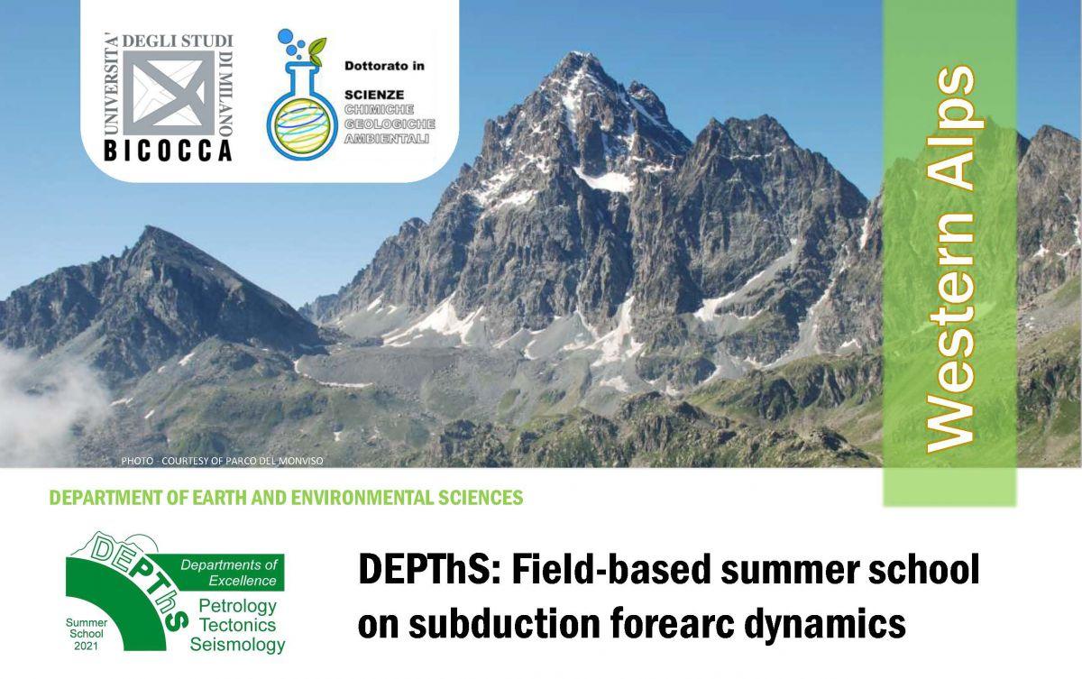 Avviso Summer School - 'DEPThS: Field-based summer school on subduction forearc dynamics'