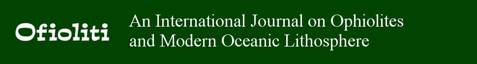 Nuovo assetto editoriale della rivista Ofioliti