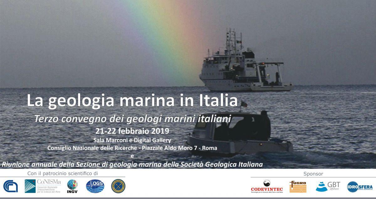 Terzo convegno dei geologi marini italiani, 21-22 febbraio 2019, Roma