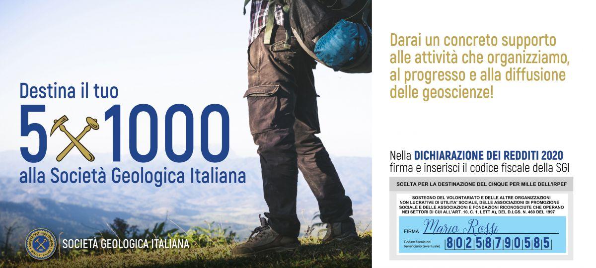 Destina il tuo 5 x mille alla Società Geologica Italiana