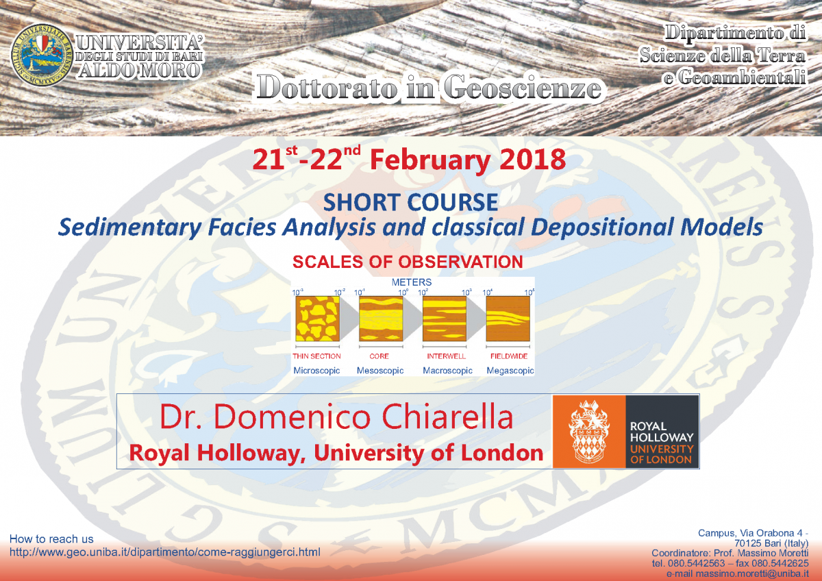 Short course - Sedimentary Facies Analysis and classical Depositional Models