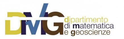 Università degli Studi di Trieste – Dipartimento di Matematica e Geoscienze: Bando per il XXXVI° ciclo di dottorato in 'Scienze della Terra, Fluidodinamica e Matematica: Interazioni e Metodi'