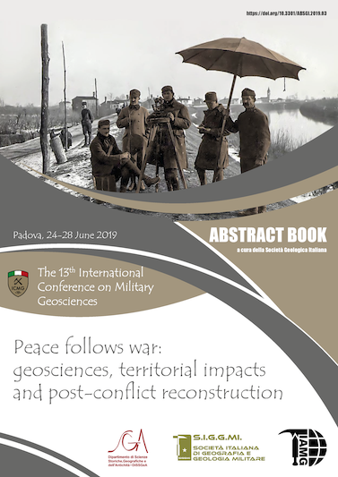 The 13th International Conference on Military Geosciences - Peace follows war: geosciences, territorial impacts and post-conflict reconstruction